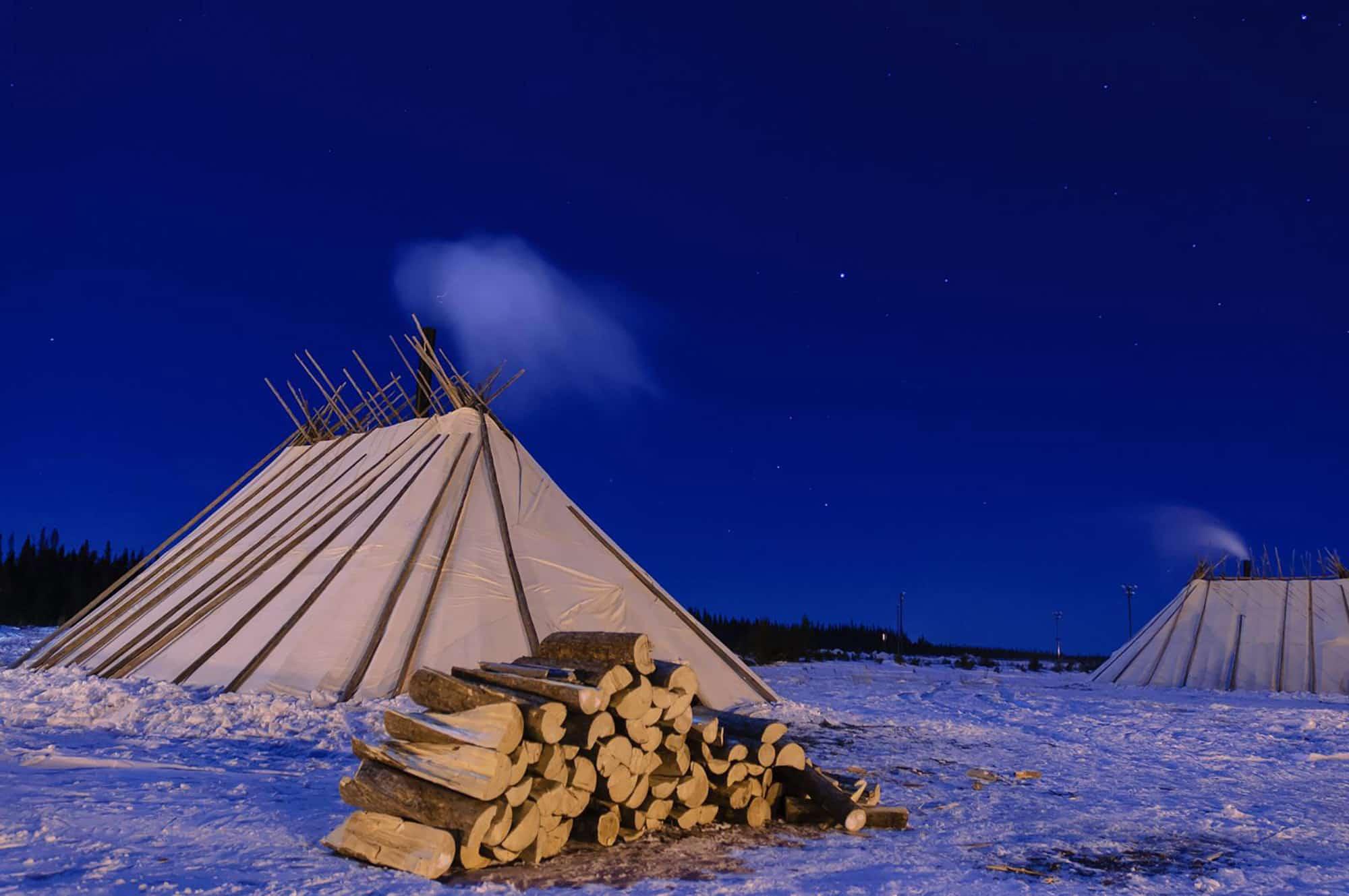Nuit étoilée hiver