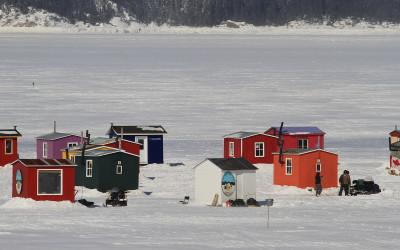 Village de pêcheurs au Saguenay, Québec, Canada