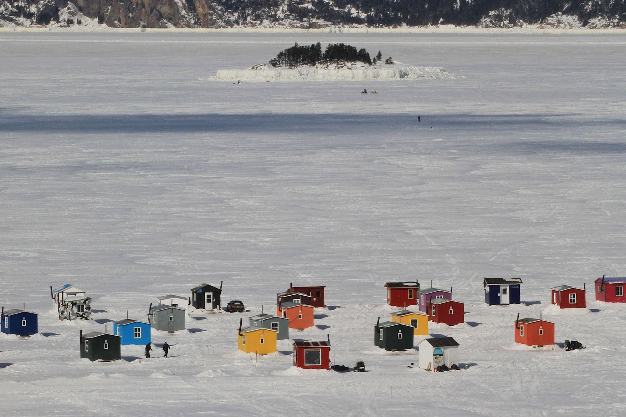Cabane de pêcheurs sur le Fjord