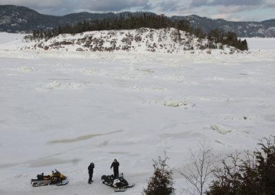 Fjord du Saguenay en motoneige