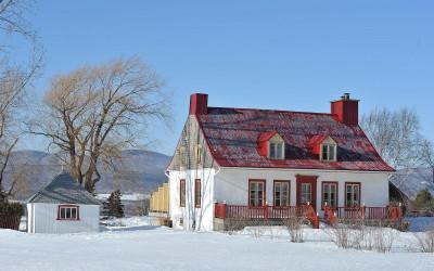Maison ancestrale, Ile d'orleans, Québec