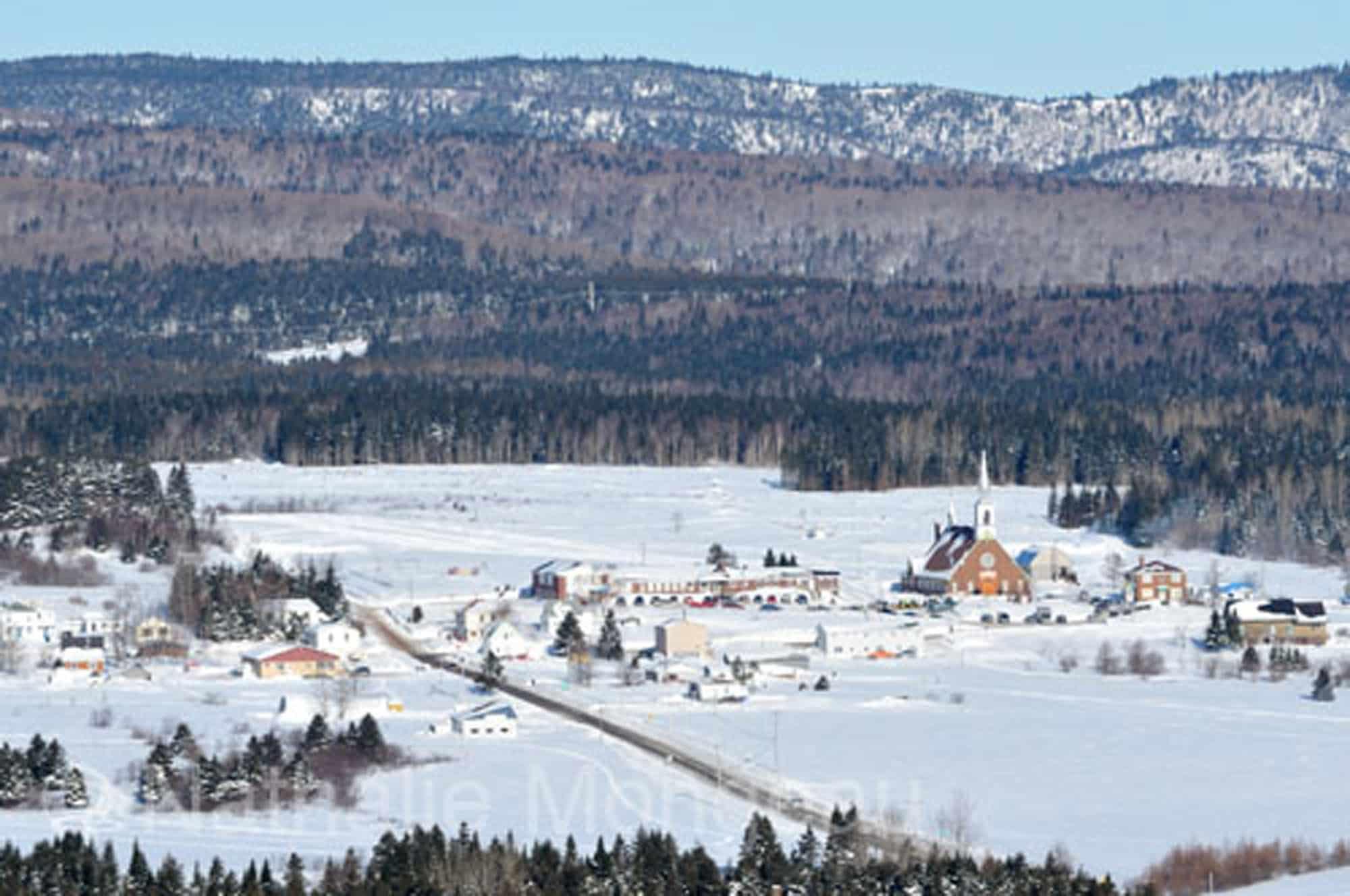Village en Gaspésie, Québec.Canada