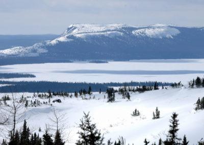 Lac gelé Québec, Canada