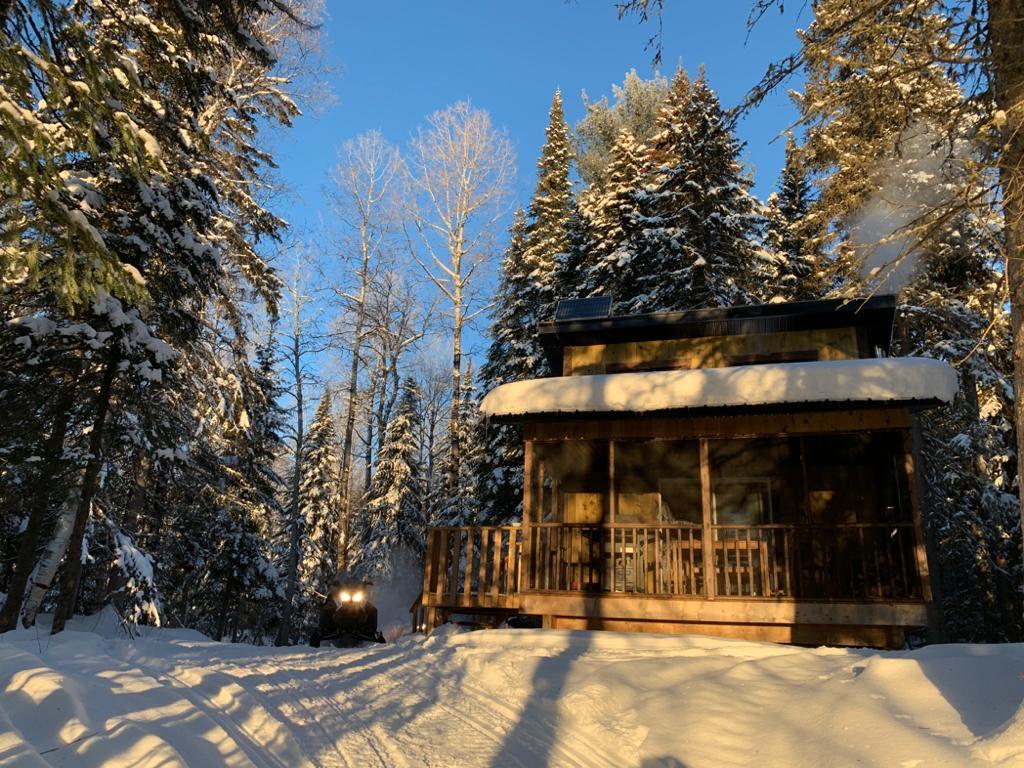 chalet hiver au Québec
